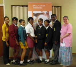 Description: Community Engagement Keywords: Faculty of Humanities, socially, responsible, learner, Innocent Mokhoele, Heatherdale Secondary School
