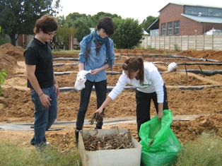 Description: Earthworm and food garden project at Free State Care in Action Tags: earthworm, food garden, Free State Care in Action, MEX354, third year medical students