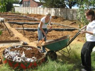 Description: Earthworm and food garden project at Free State Care in Action Tags: earthworms, food garden, Free State Care in Action, MEX354, thrid year medical students, service learning