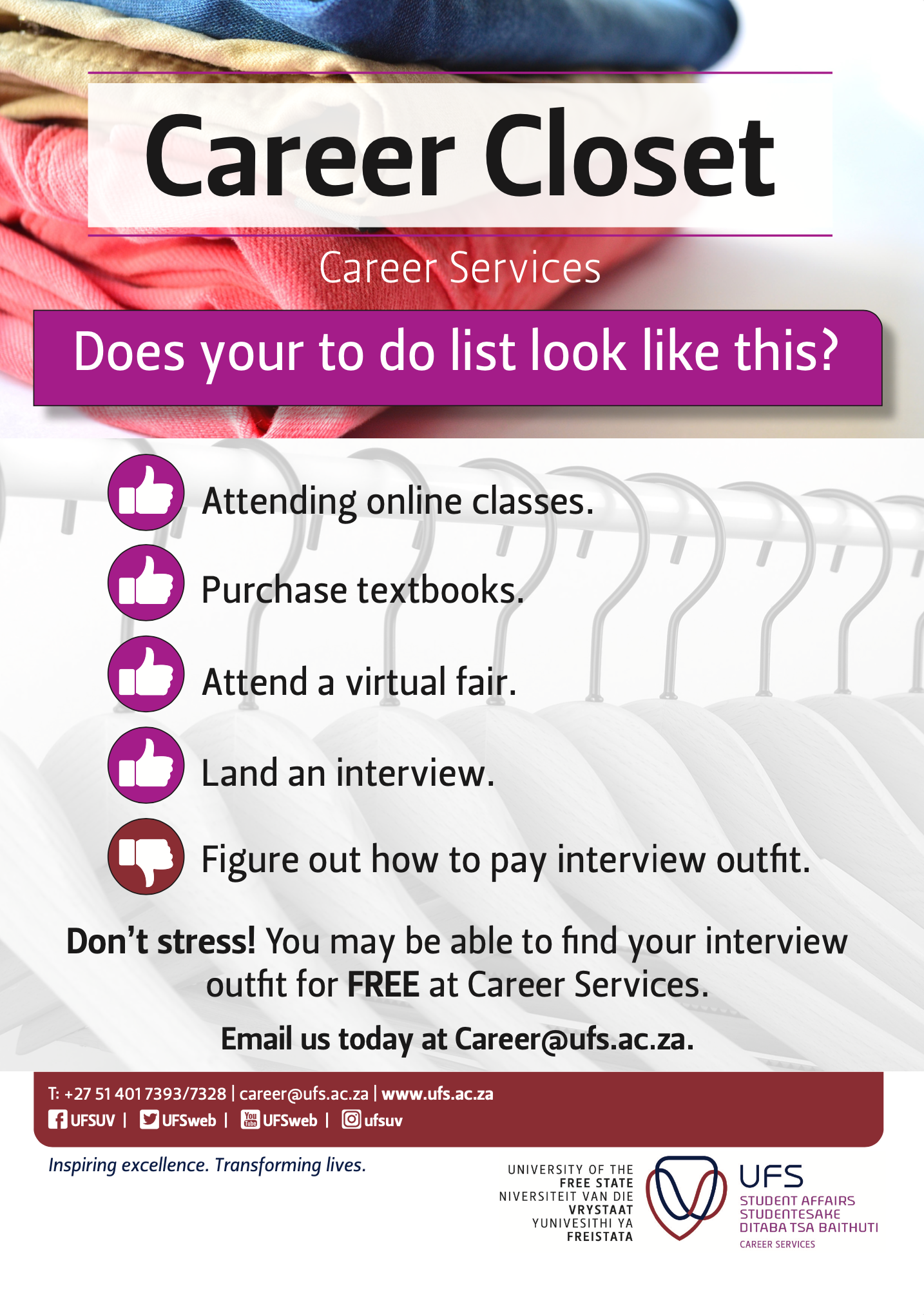Career Closet advert -1