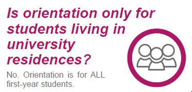 Is orientation only for residence students?
