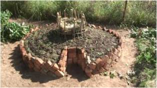 Description: Service Learning Keywords: keyhole gardens, growing vegetables, Lesotho