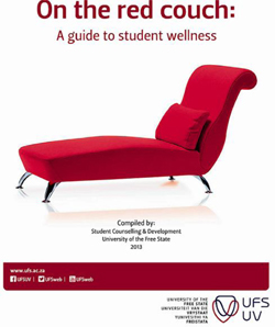 Description: Student Counselling and Development Keywords: On the red couch: A Guide to student wellness, UFS student wellness