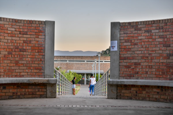 Another walkway on the Qwaqwa Campus