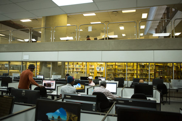 Inside the South Campus Library